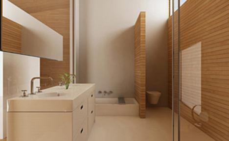 Cute Bamboo Bathroom Design