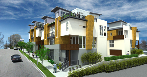 Jetson green modern sky hill townhomes in atlanta Modern houses in atlanta