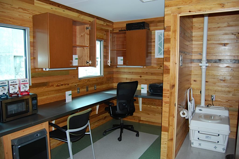 Green Trailer Bathroom