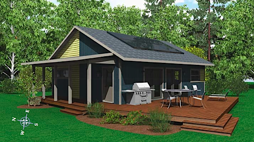 Rendering and photo credits: Solar Village Homes. & Jetson Green - Turn-Key Solar Village Home Designs