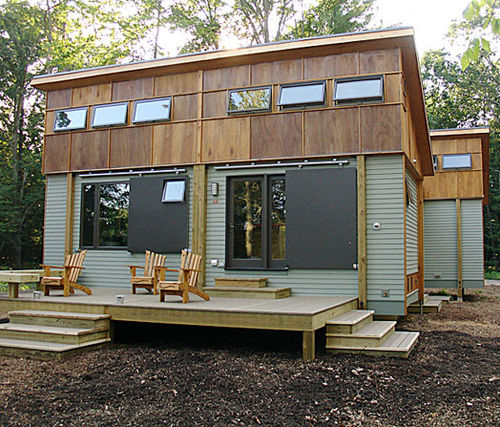 Jetson green green home prefab cottage in a day for Small modular cabins and cottages