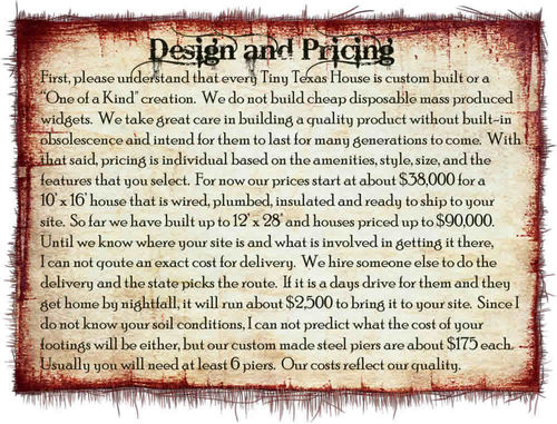 Design-pricing