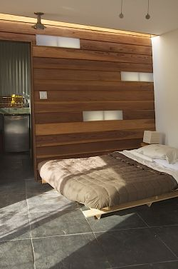 Angled-wall-bedroom