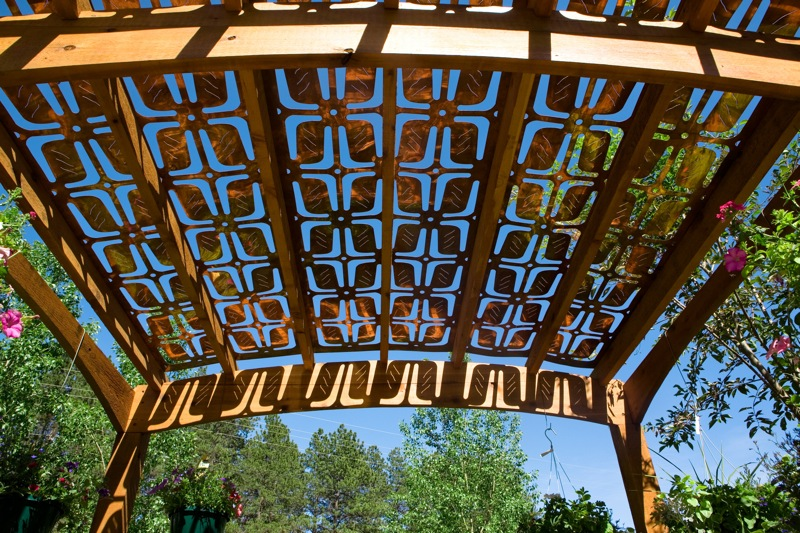 Jetson green parasoleil recycled content panels for Metal sun shade structures