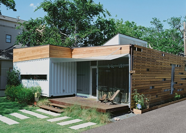 Jetson green green container house in houston for Build a house in texas