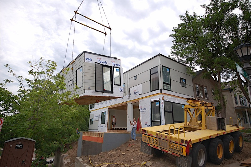 Jetson green st paul home created with three boxes for Hive modular prices