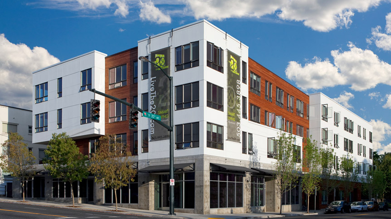 Jetson green smart living at the 20 on hawthorne for 6 unit apartment building