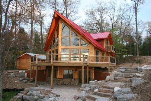 Jetson green nation 39 s first leed platinum log home for Leed cabins