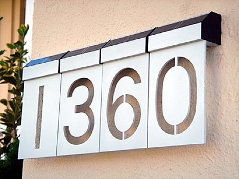 Led-solar-address-numbers