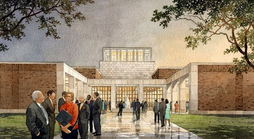 Bush-library-stern-rendering