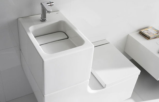 Youu0027ve Probably Already Seen This Toilet And Sink Combination Before. Itu0027s  The W+W U2013 Short For Washbasin And Watercloset U2013 From Roca.