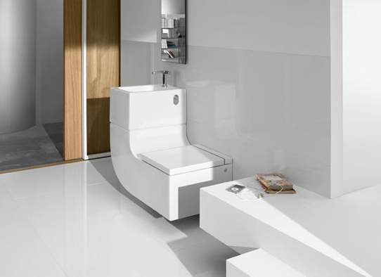 Roca w w3. Jetson Green   Waste Not with a Combo Sink Toilet