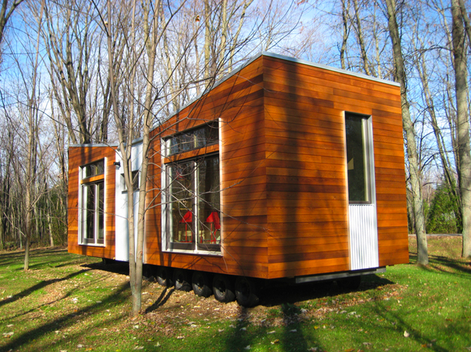 Jetson green trio modern eco home by sustain for Sustainable small homes