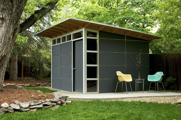 Jetson Green Modern Green Affordable Studio Shed