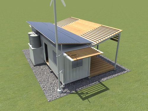 Rural-container-housing-solar