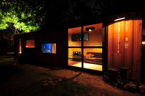 Jetson green custom container studio pod in austin - Container homes austin ...