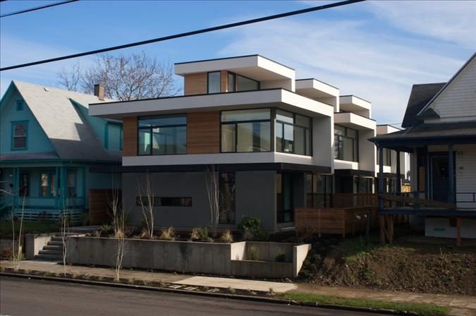 Jetson Green Modern Green North House In Portland