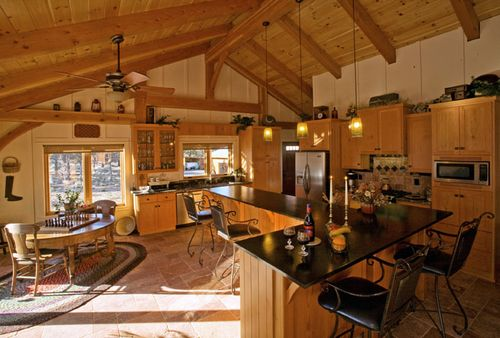 Solar-timber-frame-davis-oregon-kitchen