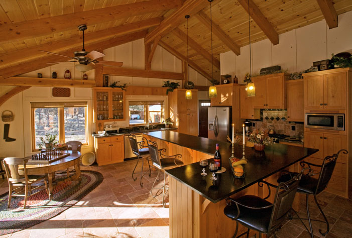 Solar Timber Frame Davis Oregon Kitchen