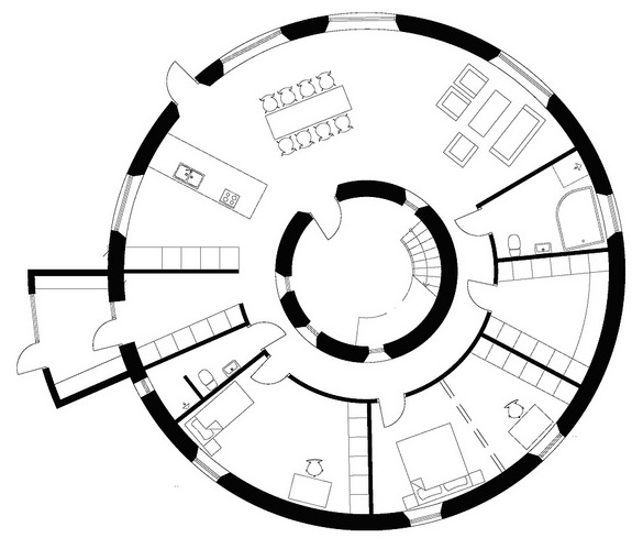 Jetson green circular passive house villa in sweden Circle house plans