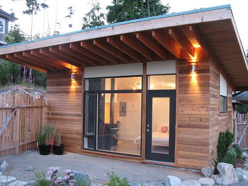 Jetson Green Modern EcoShed on Bowen Island