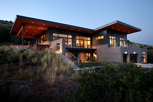 Jetson green million dollar eco modern home in utah for Home designs utah