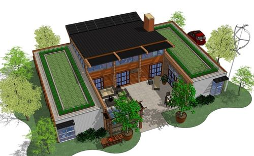 Jetson green aahsa displays net zero idea house for Net zero energy home plans