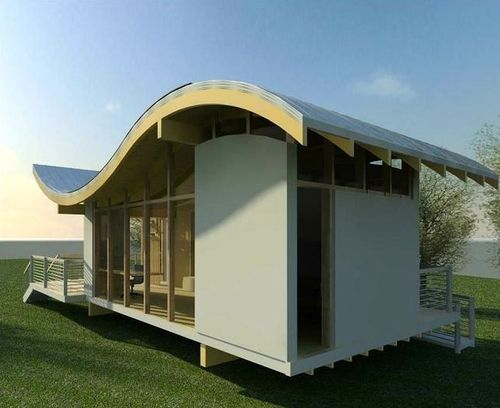 Jetson Green Wavy Solar Integrated Studio House
