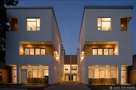 Jetson green the 505 townhomes urban experiment with for Contemporary homes houston
