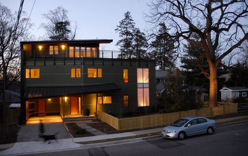 Jetson green first leed platinum home in virginia for Leed platinum home