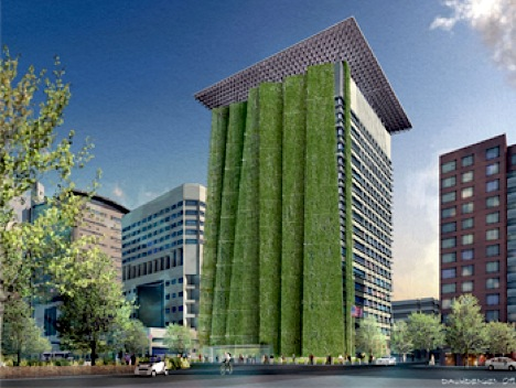 High-Rise Rehab with a Huge Green Wall