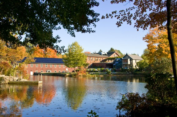 Centerbrook Architects offices from across the Mill Pond, photo by Derek Hayn