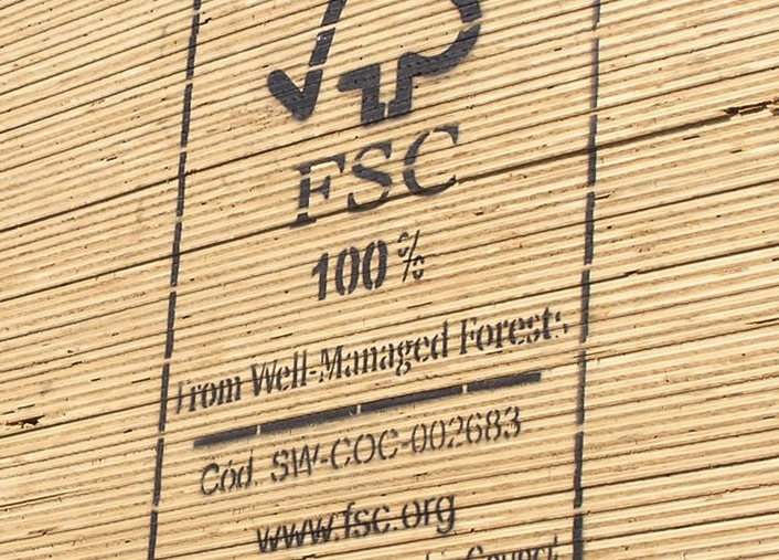 FSC Plywood Stack