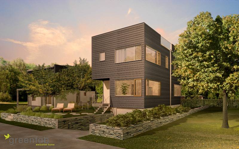 Jetson green platinum modern prefab drops in seattle for Prefabricated homes seattle