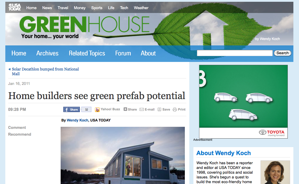green prefab potential USA Today