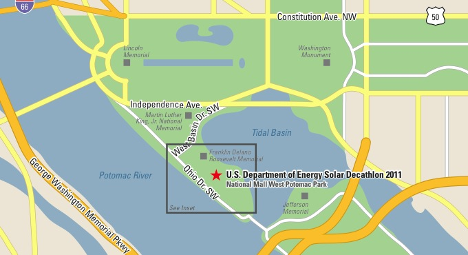 DOE Solar Decathlon West Potomac Park Map