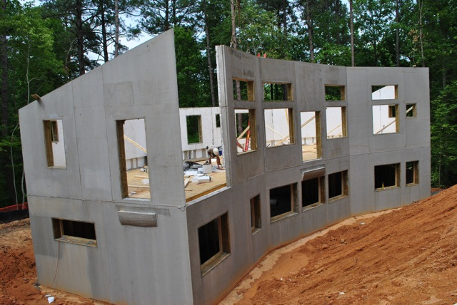 Jetson green the first passive house in north carolina for Concrete home contractors