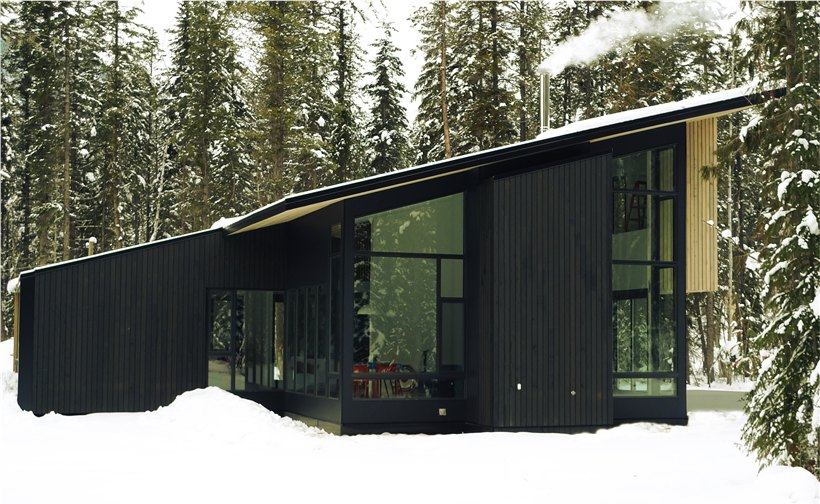 design program that is thoroughly modern in nature and right at home in nature itself according to ryan jordan co founder of form forest - Prefab Modern Cabin