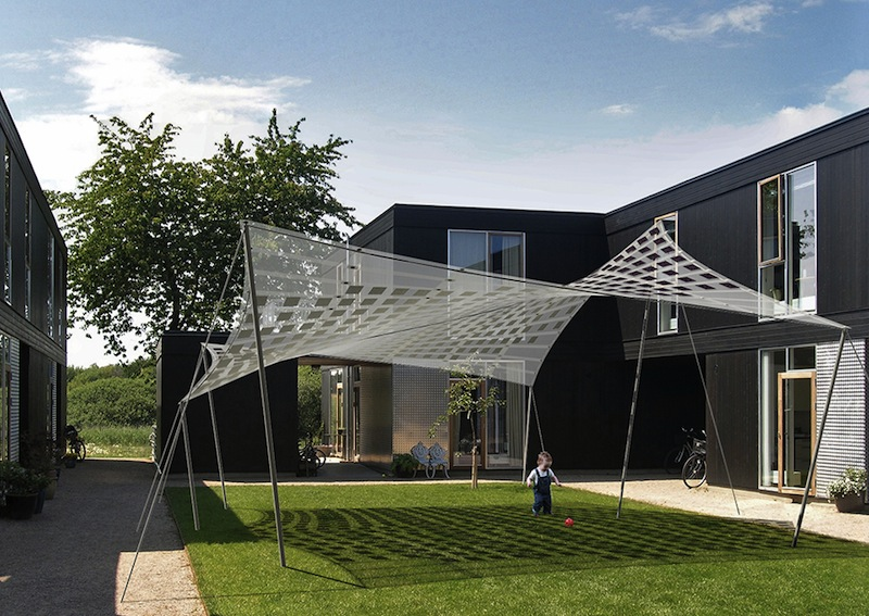 Jetson green flexible tensile solar has big potential for Sun shade structure