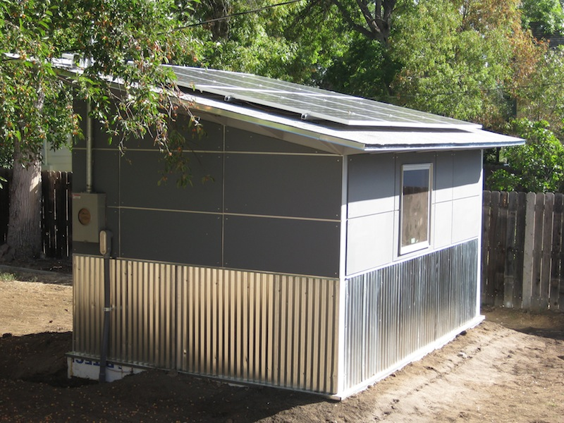 Solar powered shed vent fan