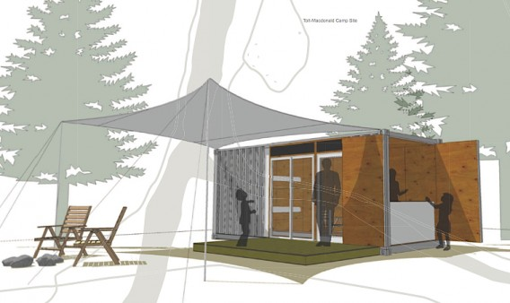 REtain is a Salvaged ISBU Camping Cabin - image Re-tain-Camp-Cabin-by-Hybrid-568x338 on http://bestdesignews.com