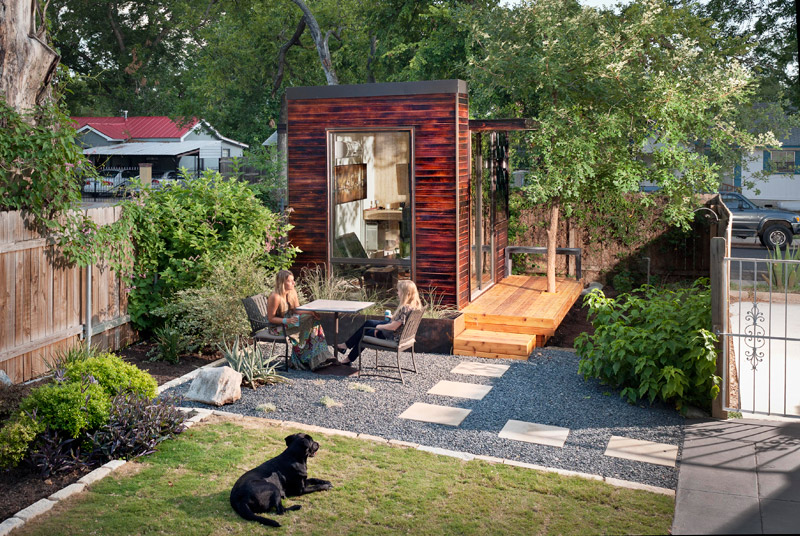 Jetson green sett is a tiny green modular studio for Prefab studio cottage