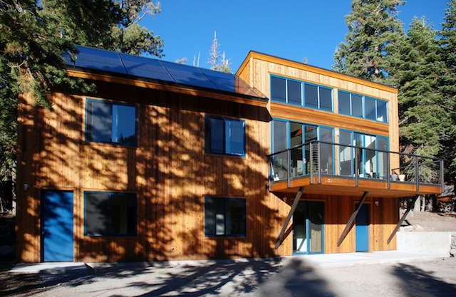 Jetson green alpine meadows is a solar powered retreat for Tahoe architects