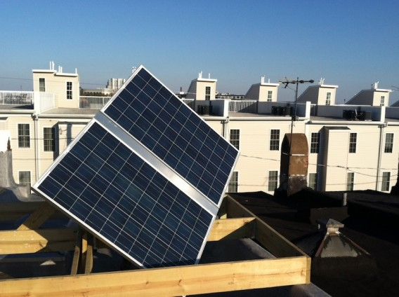 Jetson Green Roof Mounted Solar Tracker In Maryland