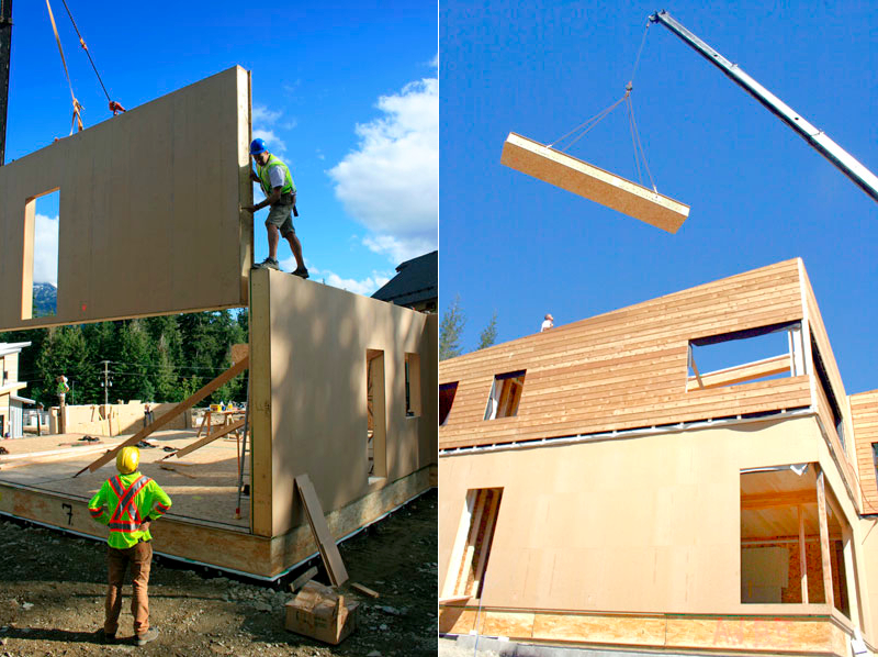 Jetson green a wood panel system for passivhaus for Panelized building systems