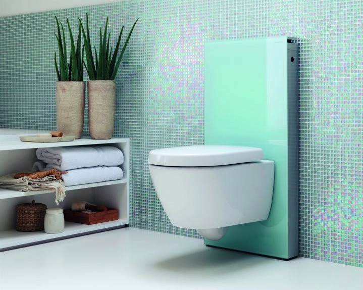 Jetson green monolith is a wall mount efficient toilet for Gerberit toilet