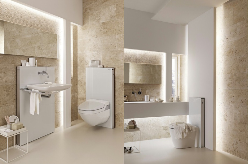 Jetson green monolith is a wall mount efficient toilet for Geberit system