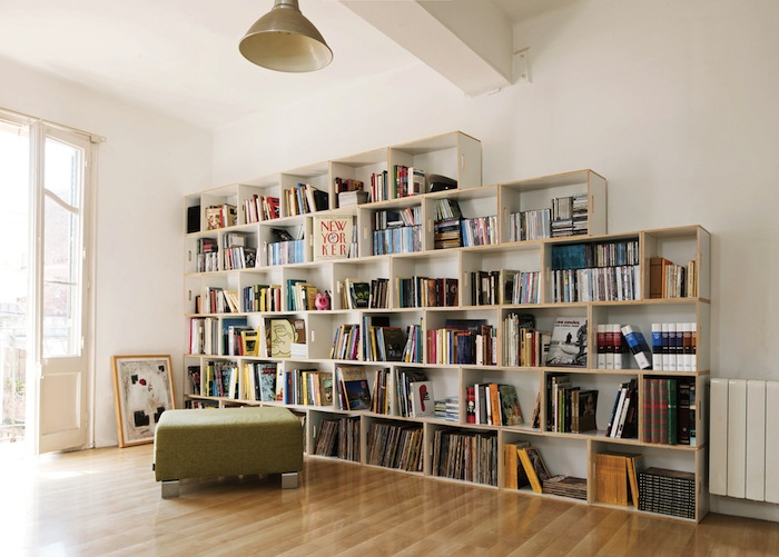 plywood bookshelf design