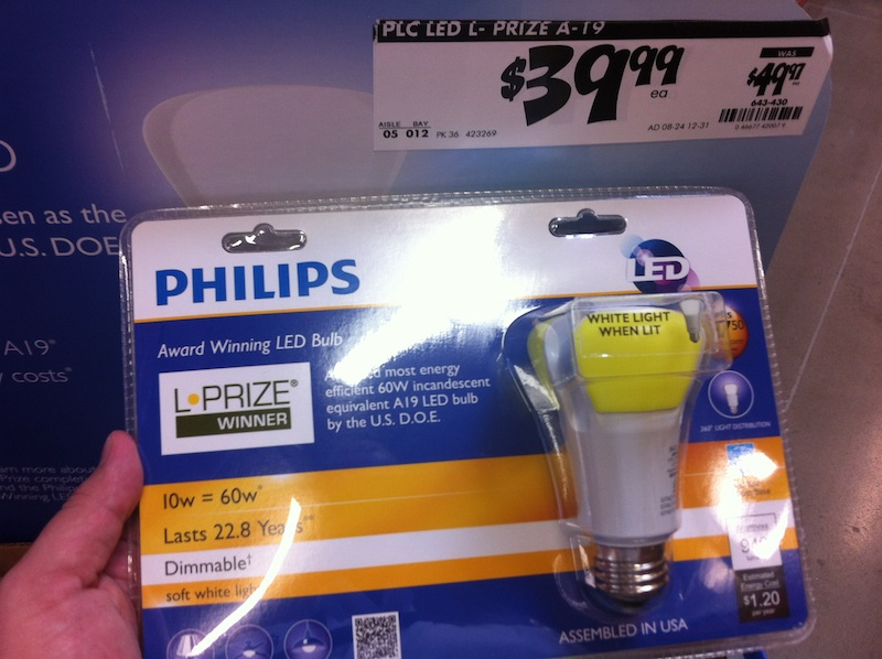 Philips L Prize LED Bulb at Home Depot