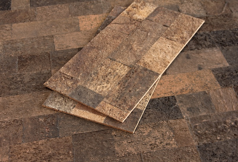 Jetson green new cork wall tiles by cali bamboo for Cork flooring on walls
